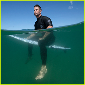 Chris Hemsworth Swims With Sharks During Nat Geo's Shark Week