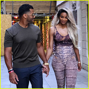 Ciara & Russell Wilson Get Flirty On Their Way To Dinner in Venice