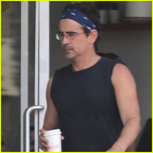 Colin Farrell Heads Out on Morning Coffee Run in Los Feliz