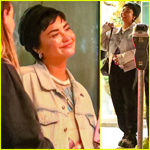 Demi Lovato Is All Smiles While Out With Friends