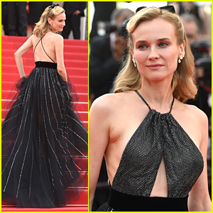 Diane Kruger Dazzled in A Jewel Lined Gown At Cannes Film Festival 2021