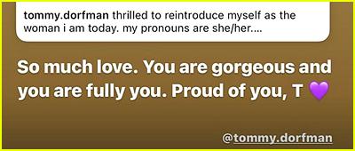 Tommy Dorfman husband message