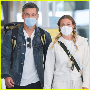 Eddie Cibrian & LeAnn Rimes Stay Safe While Flying Into NYC