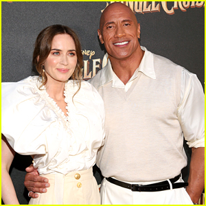 Emily Blunt Reveals If 'Jungle Cruise' Co-Star Dwayne Johnson Is A Good Kisser Or Not