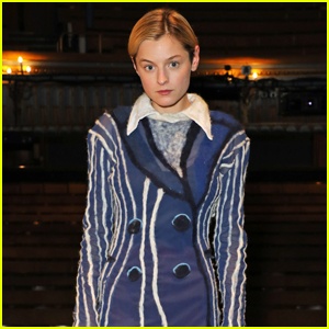 Emma Corrin Poses at the West End Premiere of 'Anna X'