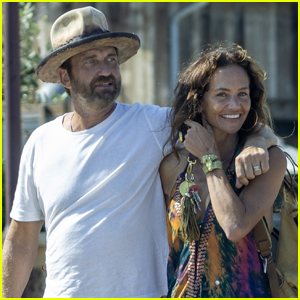 Gerard Butler & Girlfriend Morgan Brown Keep Close While Heading to Lunch