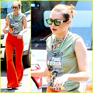 Gigi Hadid Steps Out in Bright Orange Pants After Penning Letter to Press About Daughter Khai