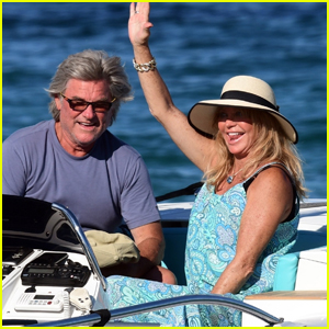 Kurt Russell & Goldie Hawn Go for Boat Ride on Vacation in St. Tropez!