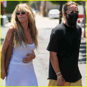 Heidi Klum & Husband Tom Kaulitz Grab Lunch with Her Kids in L.A.