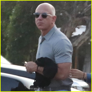 Jeff Bezos Arrives for Dinner With Friends & Family Ahead of His First Space Flight
