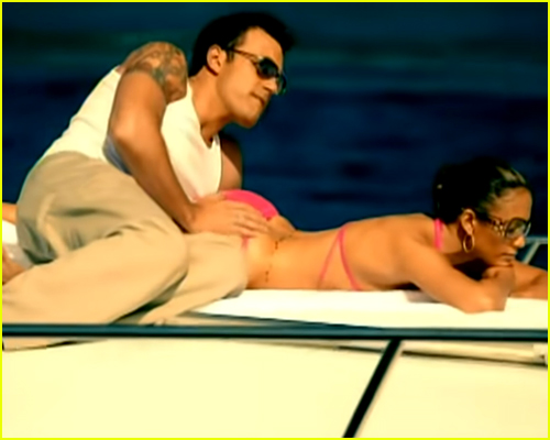 Jennifer Lopez and Ben Affleck in the Jenny from the Block video