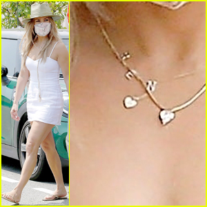 Jennifer Lopez Photographed Wearing 'Ben' Necklace - See Pictures!