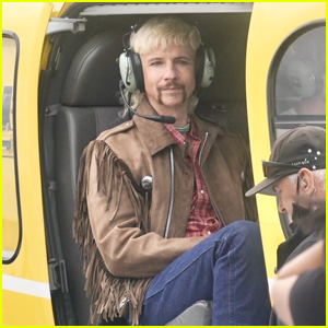 John Cameron Mitchell Films Scenes Inside a Helicopter for 'Joe Exotic' TV Series