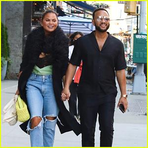 John Legend & Chrissy Teigen Lunch Out in NYC Before Heading Back to LA