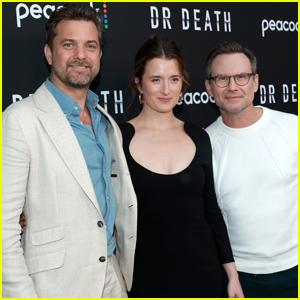 Joshua Jackson, Grace Gummer, & Christian Slater Buddy Up at 'Dr. Death' Premiere