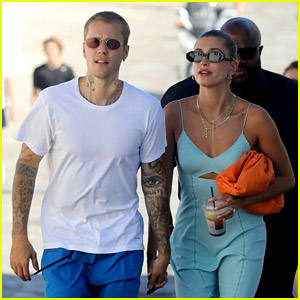 Justin & Hailey Bieber Spotted in Greece During Their Romantic European Getaway - See Photos!