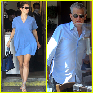 Katharine McPhee & David Foster Run Into Mohamed Hadid at Lunch in L.A.