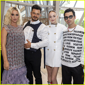 Katy Perry & Orlando Bloom Meet Up with Sophie Turner & Joe Jonas at Louis Vuitton Event!