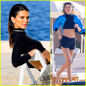 Kendall Jenner Hits the Beach for Photo Shoot in St. Tropez