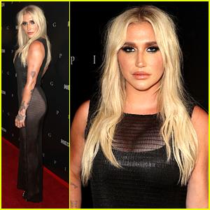 Kesha Wears Sheer Dress To Premiere of 'Pig' in LA