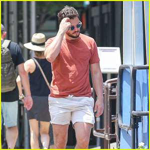 Kit Harington Beats the Heat in Shorts on a Midday Stroll in NYC