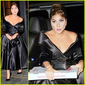 Lady Gaga Grabs Pizza On Her Way Back To Her Hotel in NYC