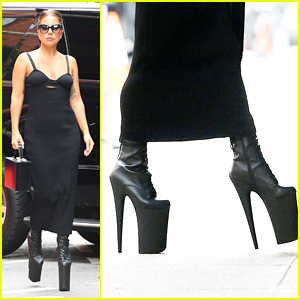 Lady Gaga Steps Out In Super High Platform Heels in NYC!