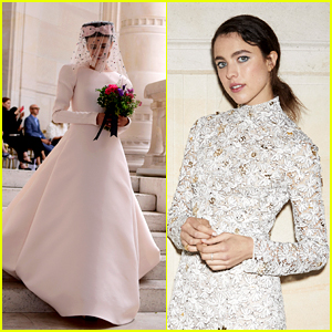 Margaret Qualley Walks in a Wedding Dress During Chanel Show in Paris!