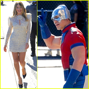 Margot Robbie Looks Gorgeous for 'Kimmel' Appearance, John Cena Shows Up in Costume!