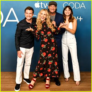 Marlee Matlin & Emilia Jones Step Out For 'CODA' Photo Call in LA