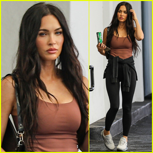 Megan Fox Stops By Skincare Clinic in Beverly Hills