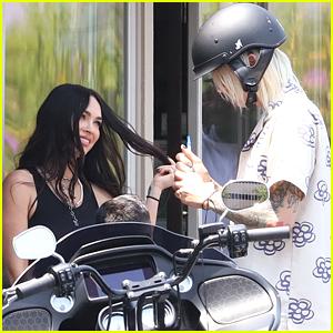 Megan Fox Flirts With Machine Gun Kelly Before A Motorcycle Ride in LA
