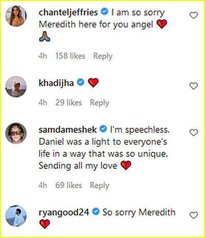 Celebs comment about Daniel Mickelson death