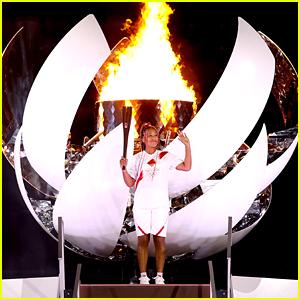These Photos of Naomi Osaka Lighting the Olympic Cauldron Are So Cool!