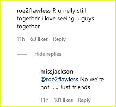 Shantel Jackson comment on Nelly split