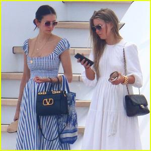 Nina Dobrev & Julianne Hough Enjoy a Yacht Outing in Cannes
