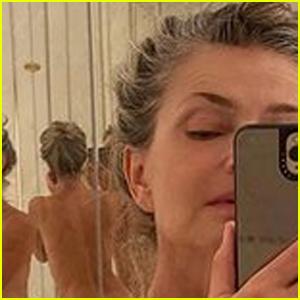 Paulina Porizkova Bares All in a Stripped-Down Mirror Selfie