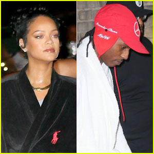 Rihanna & A$AP Rocky Wear Robes to the Set of Their Secret Project in NYC!