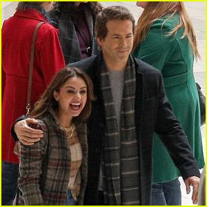 Ryan Reynolds Bundles Up on the Set of His Christmas Movie Musical 'Spirited'
