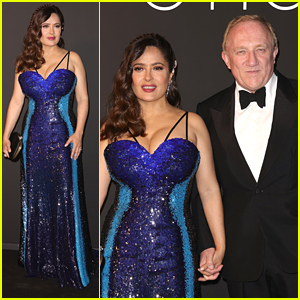 Salma Hayek & Hubby Francois-Henri Pinault Step Out For The Kering Women in Motion Awards During Cannes