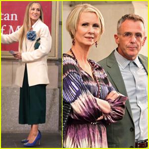 Sarah Jessica Parker Films 'And Just Like That' with Cynthia Nixon & David Eigenberg
