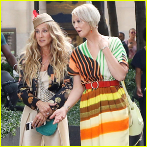 Sarah Jessica Parker & Cynthia Nixon Wear Fun Outfits for Latest 'And Just Like That' Scene