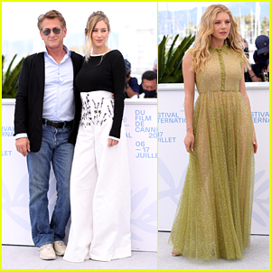 Sean Penn & Daughter Dylan Penn Join Katheryn Winnick For 'Flag Day' Photo Call at Cannes