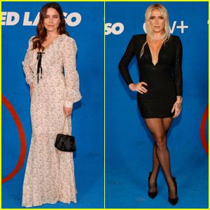 Sophia Bush & Kesha Hit the Blue Carpet at 'Ted Lasso' Season Two Premiere