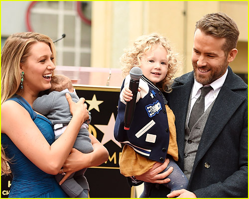 Blake Lively and Ryan Reynolds with daughter James