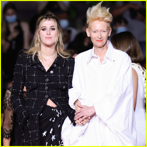 Tilda Swinton & Daughter Honor Hold Hands at 'Les Olympiades' Premiere at Cannes 2021