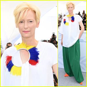 Tilda Swinton Strikes a Pose at 'Memoria' Photocall at Cannes Film Festival 2021
