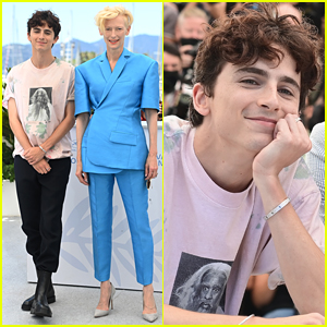 Timothee Chalamet & Tilda Swinton Keep Cannes Promo Going at 'French Dispatch' Photo Call