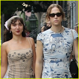 Tommy Dorfman & Rowan Blanchard Meet Up for a Day Out in NYC!