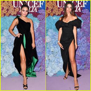 Vanessa Hudgens & Emily Ratajkowski Arrive in Style for UNICEF Event in Italy